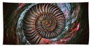 Ammonite Galaxy Beach Towel