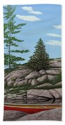 Among The Rocks II Beach Towel