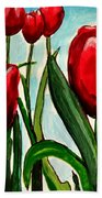 Among The Tulips Beach Towel