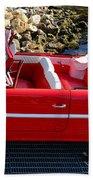 Amphicar Red  Beach Towel