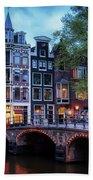 Amsterdam At Twilight Beach Towel