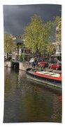 Amsterdam Prinsengracht Canal Beach Towel
