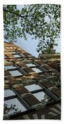 Amsterdam Spring - Fancy Brickwork Glow - Left Horizontal Beach Towel