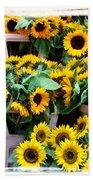 Amsterdam Sunflowers Beach Towel