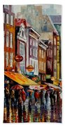 Amsterdam's Rain Beach Towel