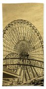 Amusement Park Vintage Beach Towel