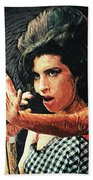 Amy Winehouse Beach Towel