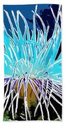 An Abstract Scene Of Sea Anemone 1 Beach Towel by Lanjee Chee