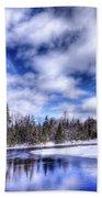 An Adirondack Winter Beach Towel