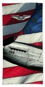 An American F-51 Ang Beach Towel
