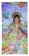 An Angel For All Of The Chakras And Her Name Is Simplicity Beach Towel