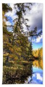 An Autumn Day At Woodcraft Camp Beach Towel