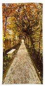 An Autumn Path Beach Towel