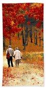 An Autumn Walk Beach Towel