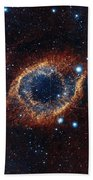 A Look In Infrared At The Helix Nebula Beach Towel