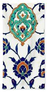 An Iznik Polychrome Tile, Turkey, Circa 1575, By Adam Asar, No 23h Beach Towel