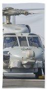 An Mh-60r Seahawk Embarked Aboard Uss Beach Towel
