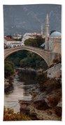 An Old Bridge In Mostar Beach Towel