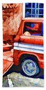 An Old Pickup Truck 2 Beach Towel