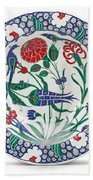 An Ottoman Iznik Style Floral Design Pottery Polychrome, By Adam Asar, No 1 Beach Towel