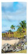 Anakena At Easter Island Beach Towel