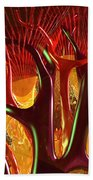 Anatomy Abstract #1 Kidney Beach Towel by Russell Kightley