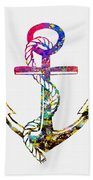Anchor-colorful Beach Towel