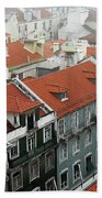 Ancient Buildings At Lisbon. Portugal Beach Towel