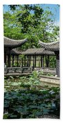 Ancient Chinese Architecture Beach Towel