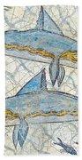 Ancient Greek Dolphins Beach Towel