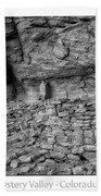 Ancient Ruins Mystery Valley Colorado Plateau Arizona 02 Bw Text Beach Towel