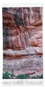Ancient Ruins Mystery Valley Colorado Plateau Arizona 03 Text Beach Towel