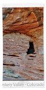 Ancient Ruins Mystery Valley Colorado Plateau Arizona 05 Text Beach Towel