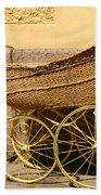 Ancient Swedish Baby Carriage Beach Towel