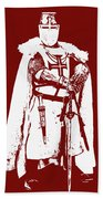 Ancient Templar Knight - 03 Beach Towel