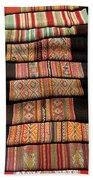 Andean Textile Market Beach Towel