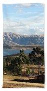 Andes Lake Beach Towel