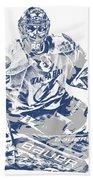Andrei Vasilevskiy Tampa Bay Lightning Pixel Art 2 Beach Towel