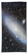 Andromeda Galaxy With Companions Beach Towel
