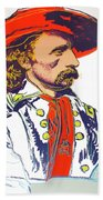 Andy Warhol, General Custer, Cowboys And Indians Series Beach Towel