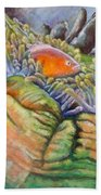 Anemone Coral And Fish Beach Towel