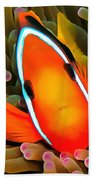 Anemone Fish Beach Towel