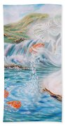 Angel And The Fishes  Flying-lamb-productions  Beach Towel