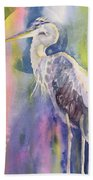 Angel Heron Beach Towel