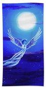 Angel In Blue Starlight Beach Towel