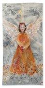 Angel In Orange Beach Towel