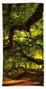 Angel Oak Limbs 2 Beach Towel by Susanne Van Hulst