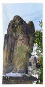Angel On Graveyard Beach Towel