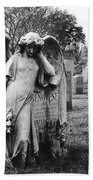 Angel On The Ground At Calvary Cemetery In Nyc New York Beach Towel