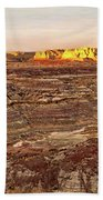 Angel Peak Badlands - New Mexico - Landscape Beach Towel